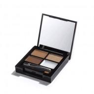 Набор для бровей MakeUp Revolution FOCUS & FIX EYEBROW SHAPING KIT Medium Dark: фото