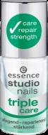 Ухаживающий лак для ногтей тройного действия Nails triple care Studio Nails Essence: фото