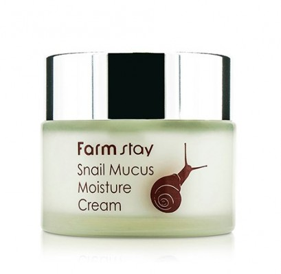 Крем увлажняющий с экстрактом улитки FARMSTAY Snail mucus moisture cream 50 г: фото