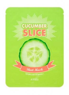 Маска-слайс с огурцом A'PIEU Cucumber slice sheet mask 20 г: фото