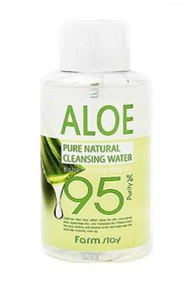 Очищающая вода с экстрактом алоэ FARMSTAY Pure cleansing water aloe 500 мл: фото