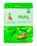 Маска с экстрактом улитки FARMSTAY Snail visible difference mask sheet 23 мл: фото