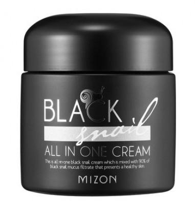 Крем с экстрактом черной улитки MIZON Black Snail All In One Cream 75мл: фото