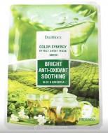 Маска с алое и зеленым чаем DEOPROCE Color synergy effect sheet mask green 20г: фото