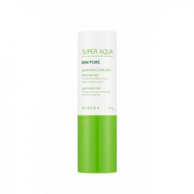 Маска-скраб очищающая MISSHA Super Aqua Mini Pore Black Head Clear Stick: фото