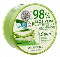 Гель многофункциональный с алоэ вера 98% 3W CLINIC Aloe vera soothing gel 300г