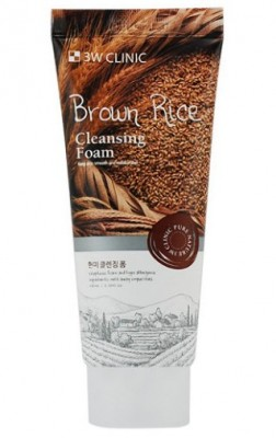 Пенка для умывания с экстрактом коричневого риса 3W CLINIC Brown rice foam cleansing 100мл: фото