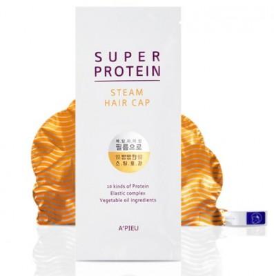 Маска-шапочка для волос с протеинами A'PIEU Super Protein Steam Hair Cap: фото