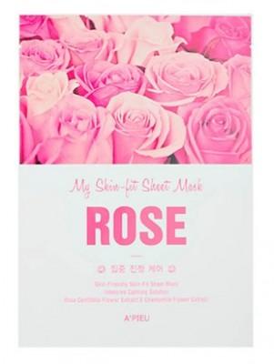 Тканевая для лица с экстрактом розы A'PIEU My Skin-Fit Sheet Mask Rose: фото