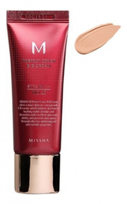 Тональный крем MISSHA M Perfect Cover BB Cream SPF42/PA+++ No.21/Light Beige 20ml: фото