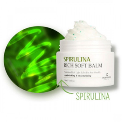 Крем-бальзам смягчающий со спирулиной The Skin House Spirulina Rich Soft Balm, 50мл: фото