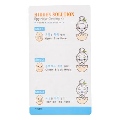 Очищающие полоски для носа A'PIEU Hidden Solution Nose Clearing Kit: фото