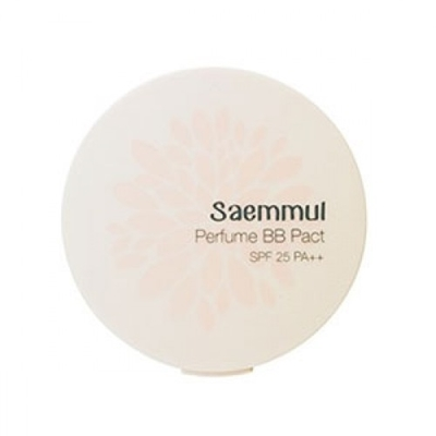 Пудра компактная ароматизированная THE SAEM Sammul Perfume BB Pact SPF25 PA++ 21. Pink Beige 20гр: фото