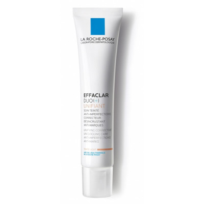 Крем для проблемной кожи Тонирующий Светлый Дуо+ La Roche-Posay Effaclar 40 мл: фото