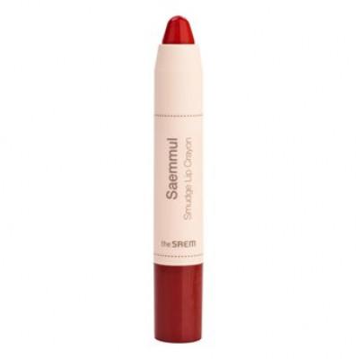 Карандаш-помада для губ THE SAEM Saemmul Smudge Lip Crayon RD02 3,5гр: фото