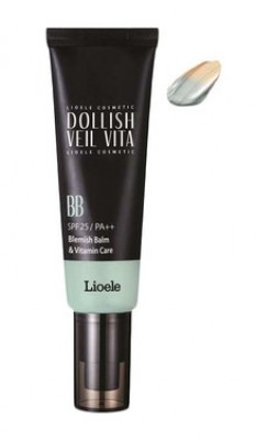 ВВ-крем Витаминная вуаль Lioele Dollish Veil Vita BB SPF25 №2Natural Green 50мл: фото