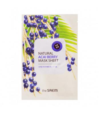 Маска тканевая с экстрактом ягод асаи THE SAEM Natural Acai Berry Mask Sheet 21мл: фото