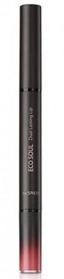 Помада для губ двойная THE SAEM ECO SOUL Dual lasting Lip 01 Tropical Red 0.25г+1г: фото