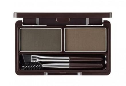 Пудра для бровей THE SAEM Eco Soul Eyebrow Kit 02 Gray Brown 2*2.5г: фото
