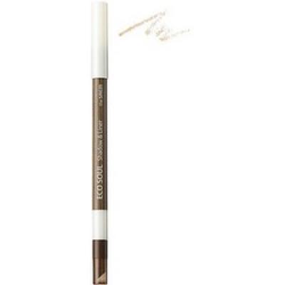 Карандаш лайнер-тени для век THE SAEM Eco Soul Shadow & Liner WH01 Cream Jubilee 0,5г: фото