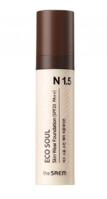 Тональная основа THE SAEM Eco Soul Skin Wear Foundation N1.5 Warm tone 30мл: фото