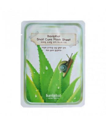 Маска тканевая улиточная Baviphat Snail Cure Mask Sheet 25гр: фото