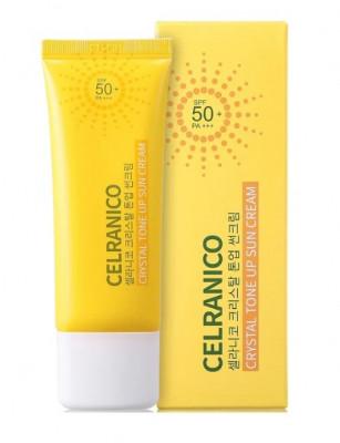 Солнцезащитный крем, выравнивающий тон кожи CELRANICO Crystal Tone Up Sun Cream SPF50/PA+++ 40 мл: фото