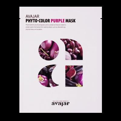 Маска очищающая маска Avajar Phyto-Color Purple Mask 10шт: фото