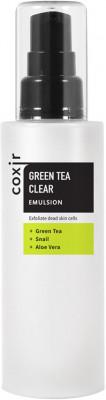 Эмульсия с зеленым чаем и BHA COXIR Greentea BHA Clear Emulsion 100мл: фото
