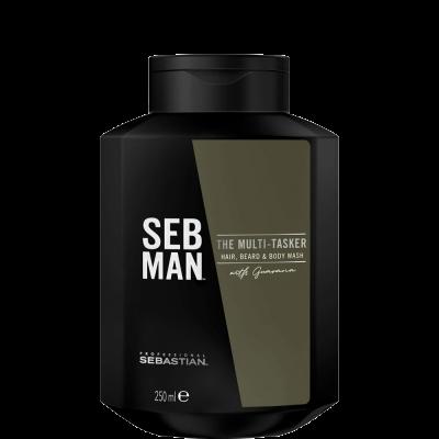 Шампунь 3в1 для ухода за волосами, бородой и телом SEB MAN THE MULTITASKER 250мл: фото