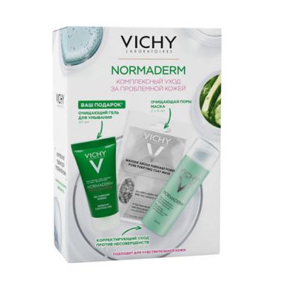 Набор VICHY Normaderm: Корректирующий Уход против несовершенств 50мл + Маска 6*2 + Гель для умывания 50мл/: фото