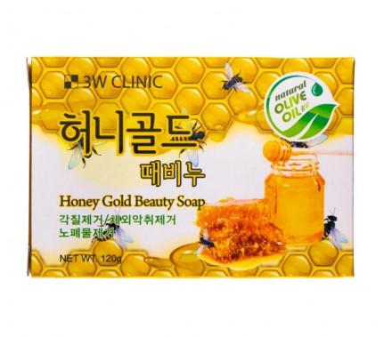 Мыло для лица и тела с экстрактом меда 3W Clinic Honey Gold 120г: фото