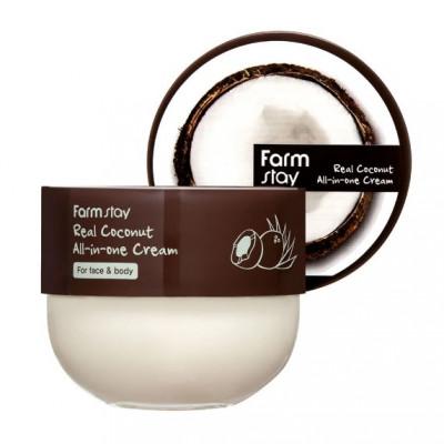 Крем с кокосом многофункциональный FarmStay Real Coconut All-In-One Cream 300мл: фото