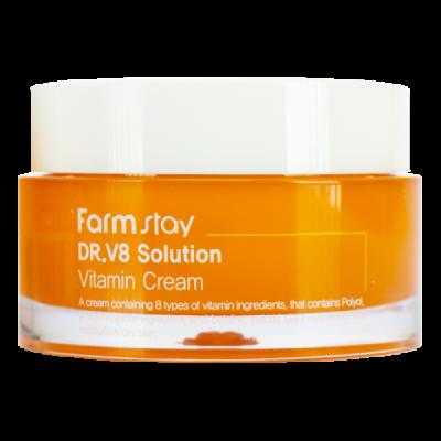 Крем с витаминами FarmStay Dr V8 Solution Vitamin Cream 50мл: фото