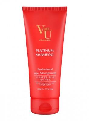 Шампунь для волос с платиной Von U Platinum Shampoo 200 мл: фото