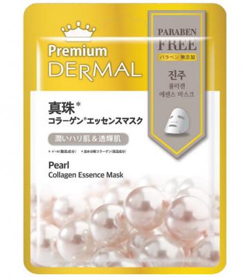 Тканевая маска жемчуг Dermal Premium Pearl Collagen Essence Mask 23 мл: фото