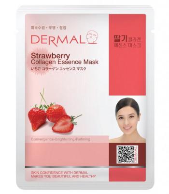 Тканевая маска клубника и коллаген Dermal Strawberry Collagen Essence Mask 23 мл: фото