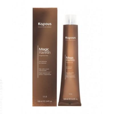 Крем-краска для волос с кератином Kapous Professional Magic Keratin - 7.11 интенсивно-пепельный блонд, 100 мл: фото