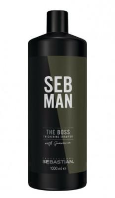Шампунь освежающий для увеличения объема SEB MAN THE BOSS Thickening Shampoo 1000 мл: фото