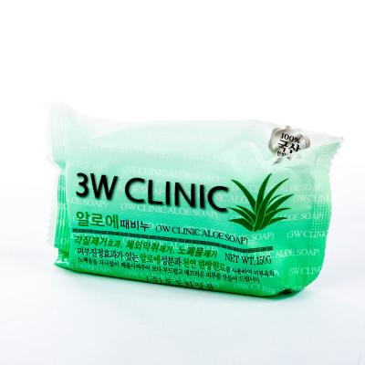 Мыло кусковое АЛОЭ 3W CLINIC Aloe Soap 150 г: фото