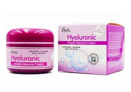 Ампульный крем с гиалуроновой кислотой Ekel Ample Intensive Cream Hyaluronic Acid 100г: фото