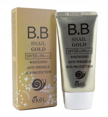 ВВ-крем солнцезащитный Ekel BB Cream Snail Gold SPF50/PA 50мл: фото
