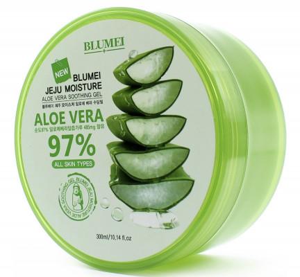 Универсальный успокаивающий гель с алоэ Blumei Jeju Moisture Aloe 97% Soothing Gel 300 мл: фото